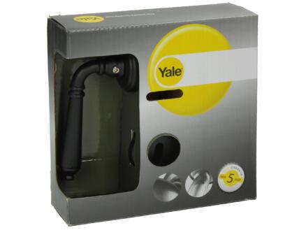 Yale Dorus BB deurklinkset op rozet 50mm zwart smeedijzer