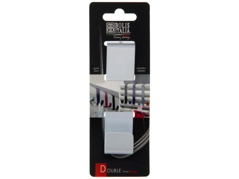 Double crochet portemanteau blanc