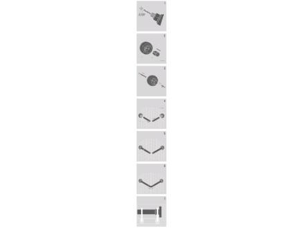 Sealskin Douchegordijnstang combinatieset chroom