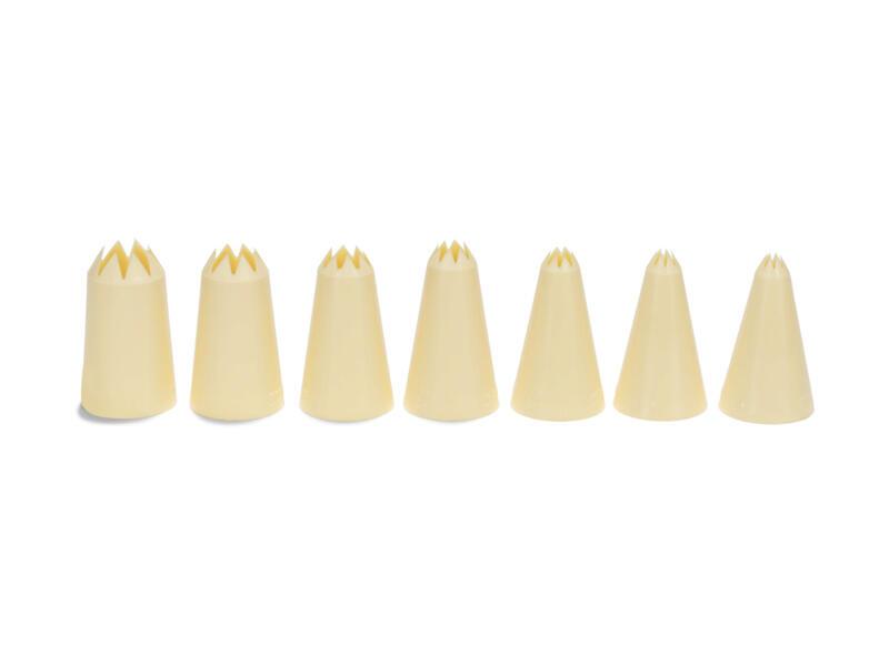 Douille cannelée 3-15 mm 7 pièces