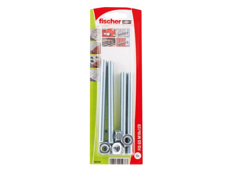 Fischer Draadstang 120x10 mm 4 stuks