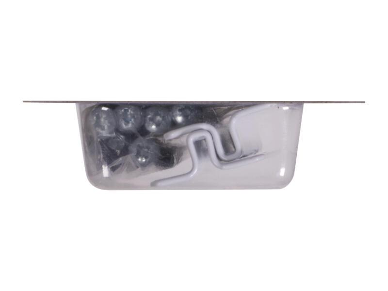 Drager mini 7x3,3 cm wit 2 stuks