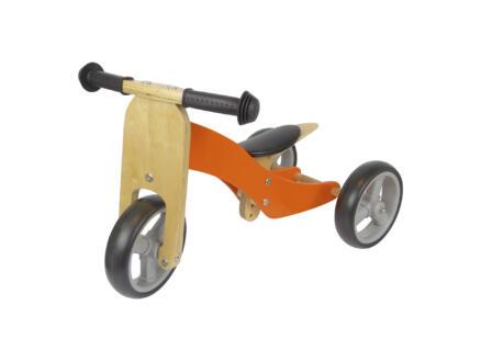 Draisienne et tricycle bois orange