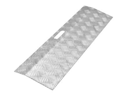 Drempelhulp type 1 hoogte verstelbaar 0-30 mm 78x20 cm aluminium