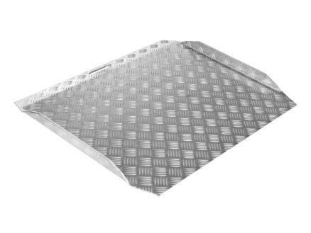 Drempelhulp type 2 hoogte verstelbaar 70-150 mm 75x61,5 cm aluminium