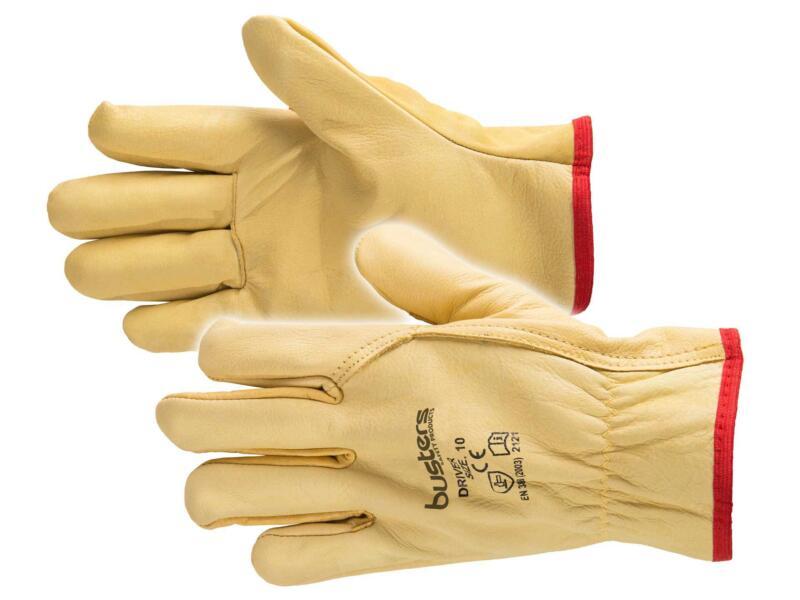Busters Driver gants de travail L cuir jaune