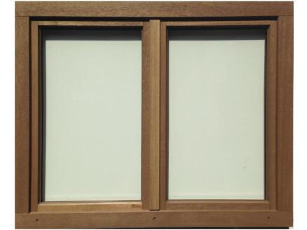 Dubbel draaikiepraam opendraaiend 126x118 cm hout