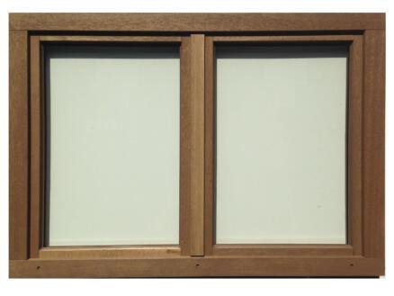 Dubbel draaikiepraam opendraaiend 126x98 cm hout