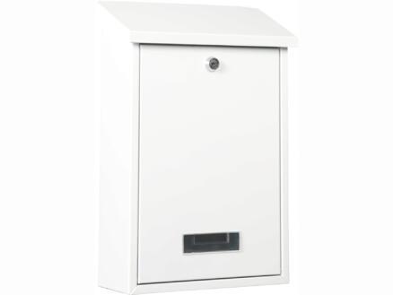 Practo Garden Dublin brievenbus rechthoekig staal wit