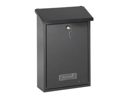 Practo Garden Dublin brievenbus rechthoekig staal zwart