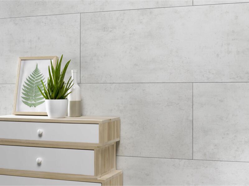 Dumawall+ wandpaneel 120x37,5cm  2,25m² licht cement 5 stuks