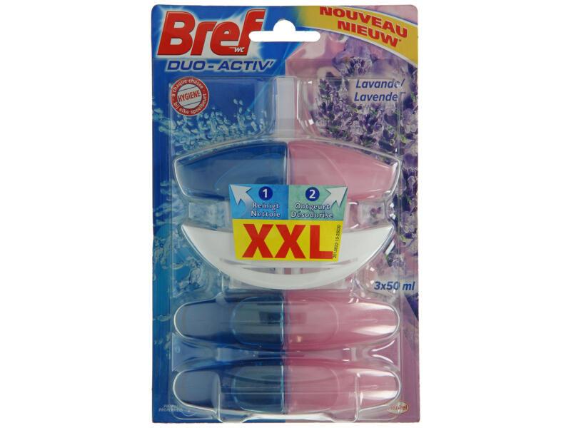 Bref Duo-Activ' blocs WC 50ml lavande 2-en-1 3 pièces