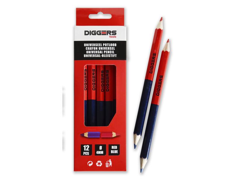 Diggers Duo potlood 17,6cm 12 stuks