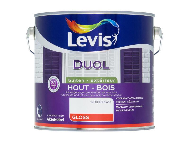 Levis Duol houtlak hoogglans 2,5l wit