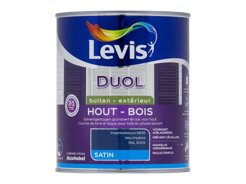 Levis Duol houtlak zijdeglans 0,75l imperiaalblauw