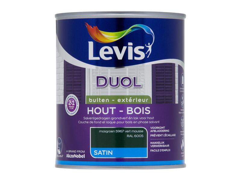 Levis Duol houtlak zijdeglans 0,75l mosgroen