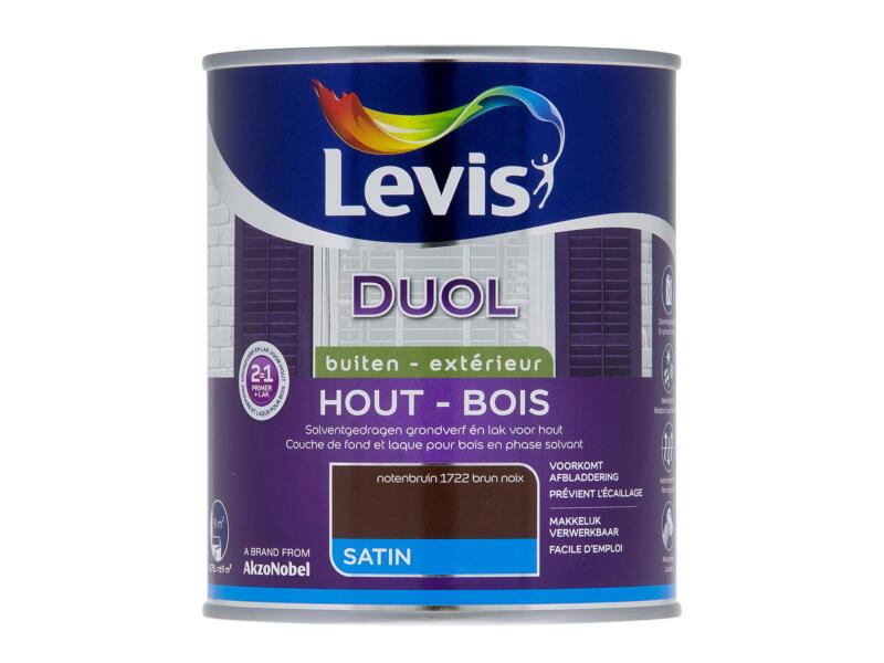 Levis Duol houtlak zijdeglans 0,75l notenbruin