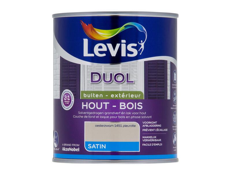 Levis Duol houtlak zijdeglans 0,75l oesterzwam