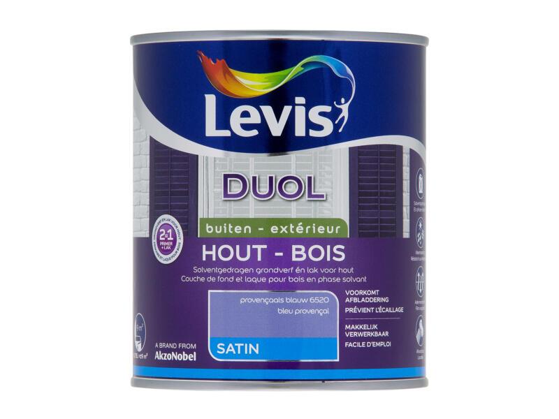 Levis Duol houtlak zijdeglans 0,75l provençaals blauw