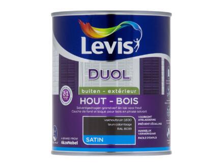 Levis Duol houtlak zijdeglans 0,75l vakhoutbruin