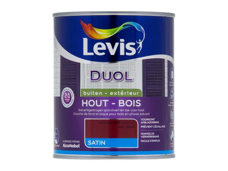 Levis Duol houtlak zijdeglans 0,75l wijnrood