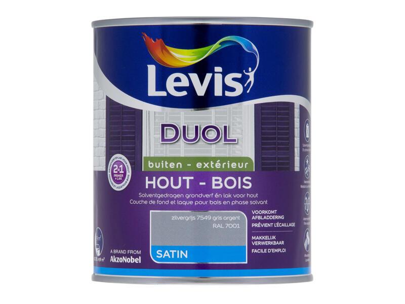 Levis Duol houtlak zijdeglans 0,75l zilvergrijs