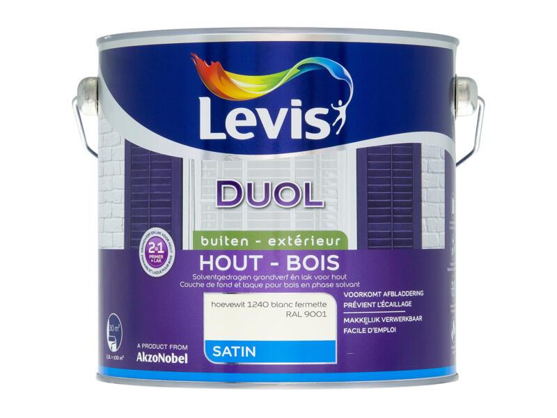 Levis Duol houtlak zijdeglans 2,5l hoevewit