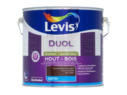 Levis Duol houtlak zijdeglans 2,5l normandisch bruin