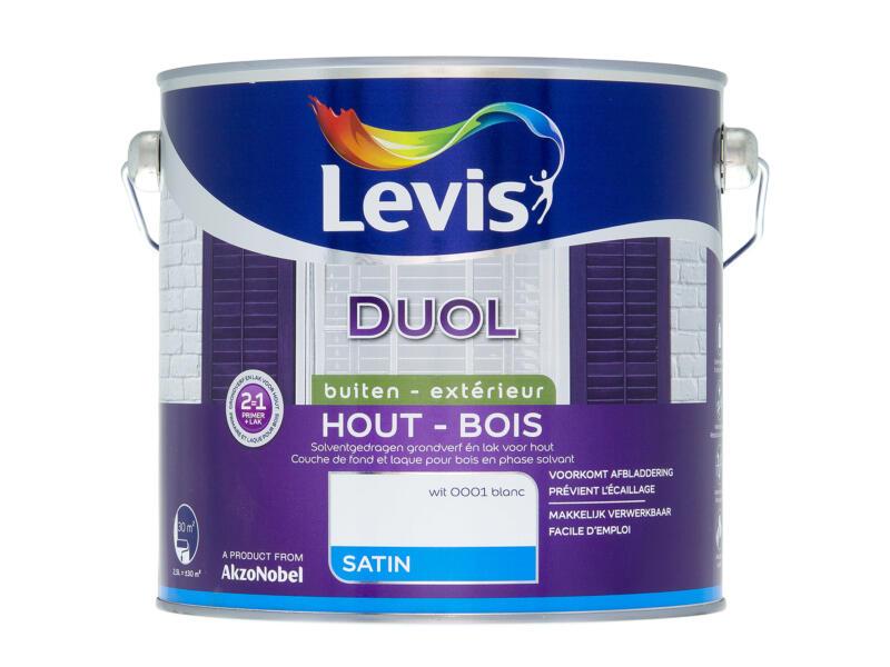 Levis Duol houtlak zijdeglans 2,5l wit
