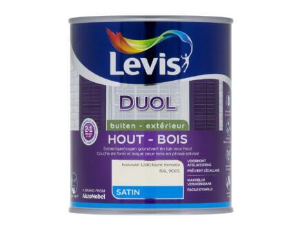 Levis Duol laque bois satin 0,75l blanc fermette
