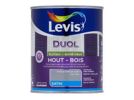 Levis Duol laque bois satin 0,75l gris argent