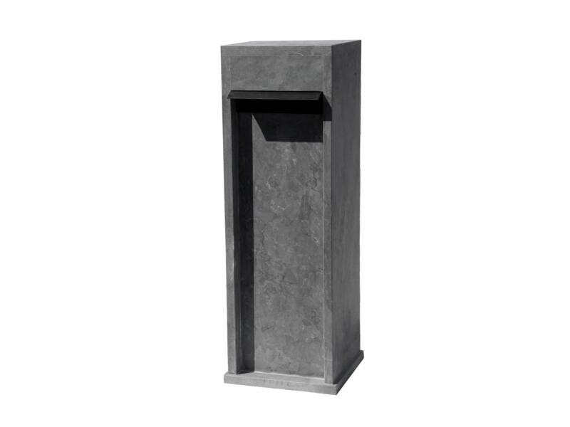 De Witte EX411 boîte aux lettres pierre bleue avec rabat noir