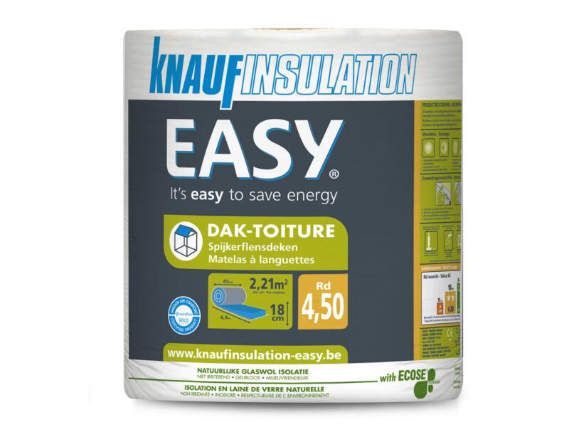 Knauf Insulation Easy dakisolatie glaswol 490x45x18 cm R4,5 2,21m²