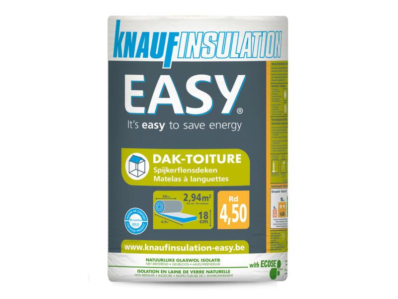 Knauf Insulation Easy dakisolatie glaswol 490x60x18 cm R4,5 2,94m²