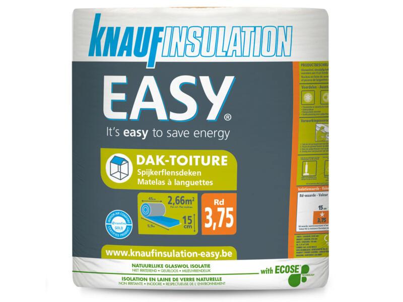 Knauf Insulation Easy dakisolatie glaswol 590x45x15 cm R3,75 2,655m²
