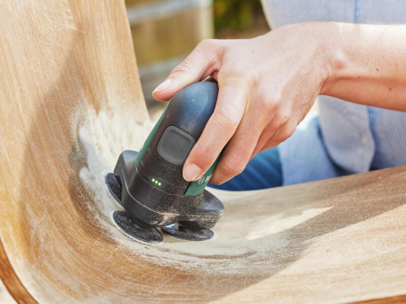 Bosch EasyCurvSander 12 ponceuse à disque & polisseuse sans fil 12V Li-Ion batterie non comprise