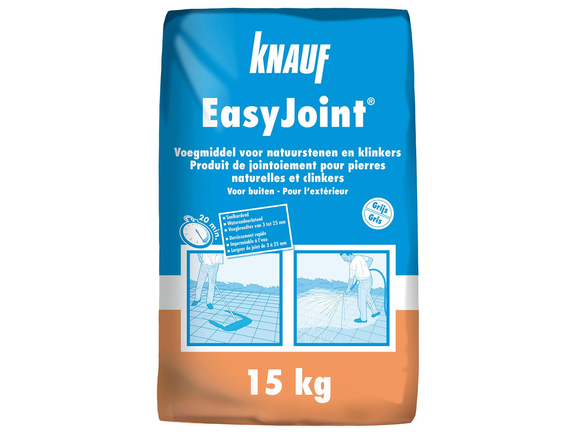 Knauf Easyjoint Mortier De Jointoiement 15kg Gris Hubo