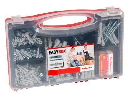 Fischer Easybox UX 6/8/10 S4 set de chevilles avec vis 136 pièces