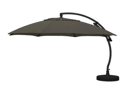 Easysun Easysun XL parasol déporté 3,75m olefin choco + pied