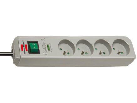 Brennenstuhl Eco-Line stekkerdoos 4x met schakelaar en kabel 1,5m lichtgrijs