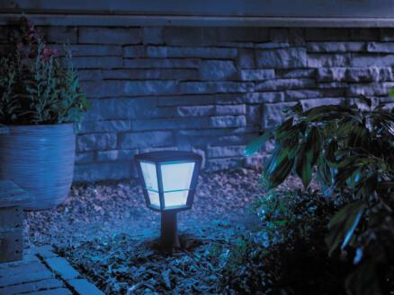 Philips Hue Econic LED sokkel lantaarn 15W 37cm dimbaar zwart
