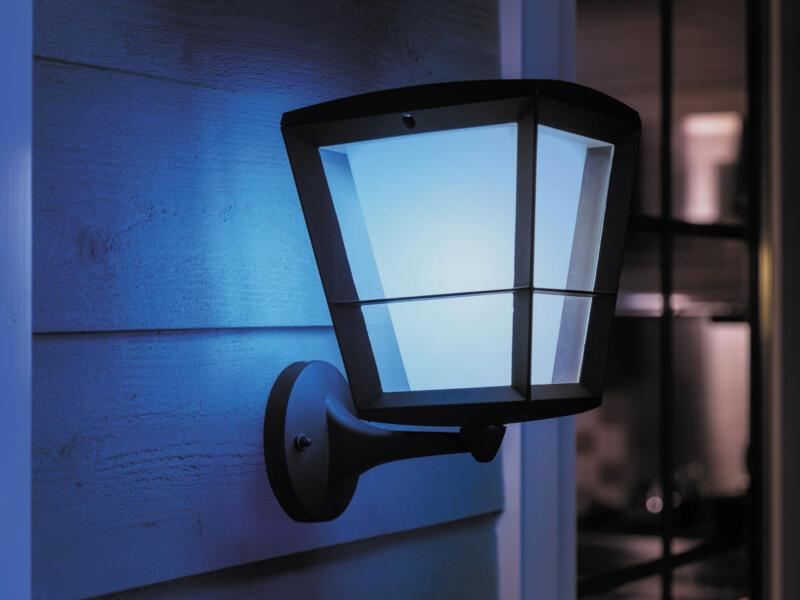 Philips Hue Econic applique murale extérieure LED 15W lanterne haut dimmable noir