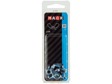 Mack Ecrou à ailettes M6 zingué 5 pièces