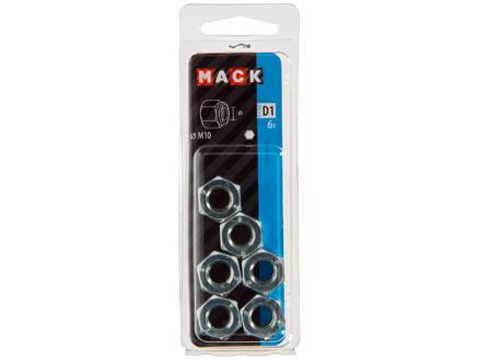 Mack Ecrou de sécurité M10 zingué 6 pièces