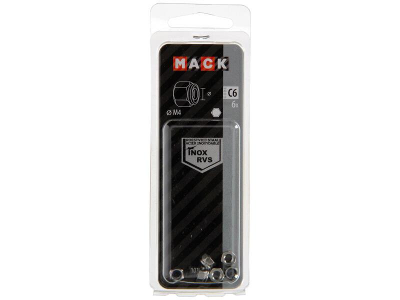 Mack Ecrou de sécurité M4 inox 6 pièces