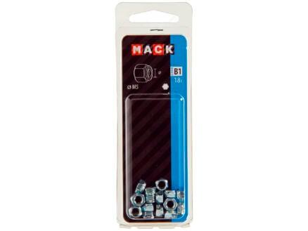 Mack Ecrou de sécurité M5 zingué 18 pièces