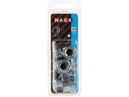 Mack Ecrou hexagonal M12 zingué 12 pièces