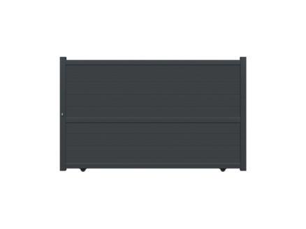 Edla schuifpoort 350x180 cm antraciet