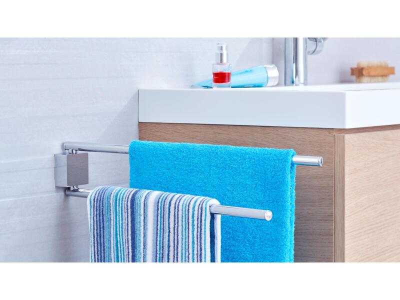 Tesa Ekkro draaibaar handdoekrek zelfklevend 50cm chroom