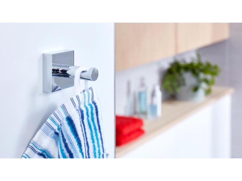 Tesa Ekkro handdoekhaak chroom zelfklevend 39x50 mm